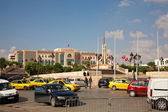 Heavy traffic close to city hall of Tunis, Tunisia — Stock Photo
