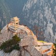 Stone pagoda on the holy mountain HuaShan, China - Stock Photo
