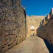 Ancient streets of  Rhodes Island — Stock Photo