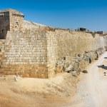 Ancient walls - Rhodes Island — Stock Photo