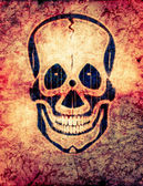 Radioactive skull — Stock Photo