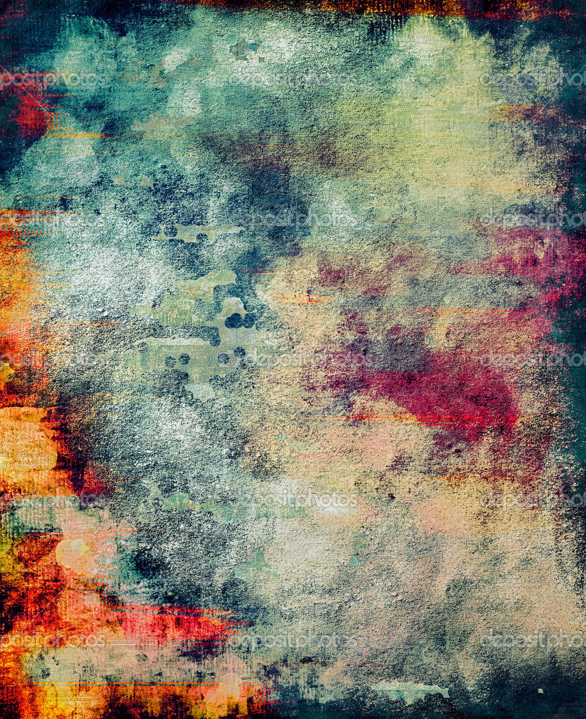 Old grunge, bloody, painted with digital brush, wall background. Useful for hardcore  decorations, energetic posters or scifi pages — Stock Photo #8850291