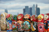Russian national souvenir - a Matryoshka — Stock Photo