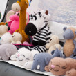 Stock Photo: Knitted soft toys, handmade