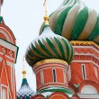 St. Basil's Cathedral in the snow, Moscow, Russia — Foto Stock