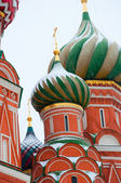 St. Basil's Cathedral in the snow, Moscow, Russia — Stock Photo
