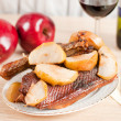 Roast goose with apple — Stock Photo