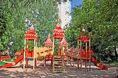 Wooden children's play set — Stock Photo