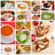 Delicious homemade food, collage — Stock Photo