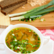A delicious pea soup home cooking — Stock Photo #9707568