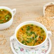 A delicious pea soup home cooking — Stock Photo