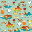Royalty-Free Stock Vector Image: Background with food for breakfast