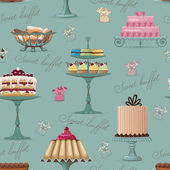 Sweet buffet background — Stock Vector