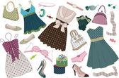 Clothing polka-dots — Stock Vector