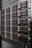 Row of hard drives — Stock Photo