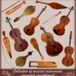 Royalty-Free Stock Vector Image: Collection of musical instruments