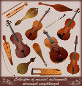 Collection of musical instruments — Stock Vector