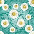 Stock Vector: Seamless daisy background