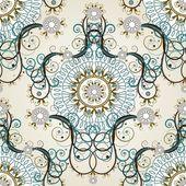 高級花ビンテージ壁紙 — ストックベクタ