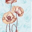 Royalty-Free Stock Vektorgrafik: Romantic floral card with vintage poppies