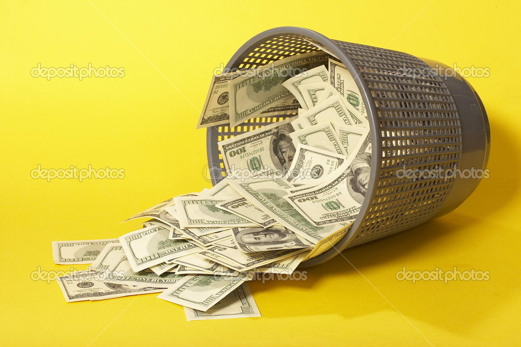 Big pile of money. stack of american dollars — Stock Photo #10550414