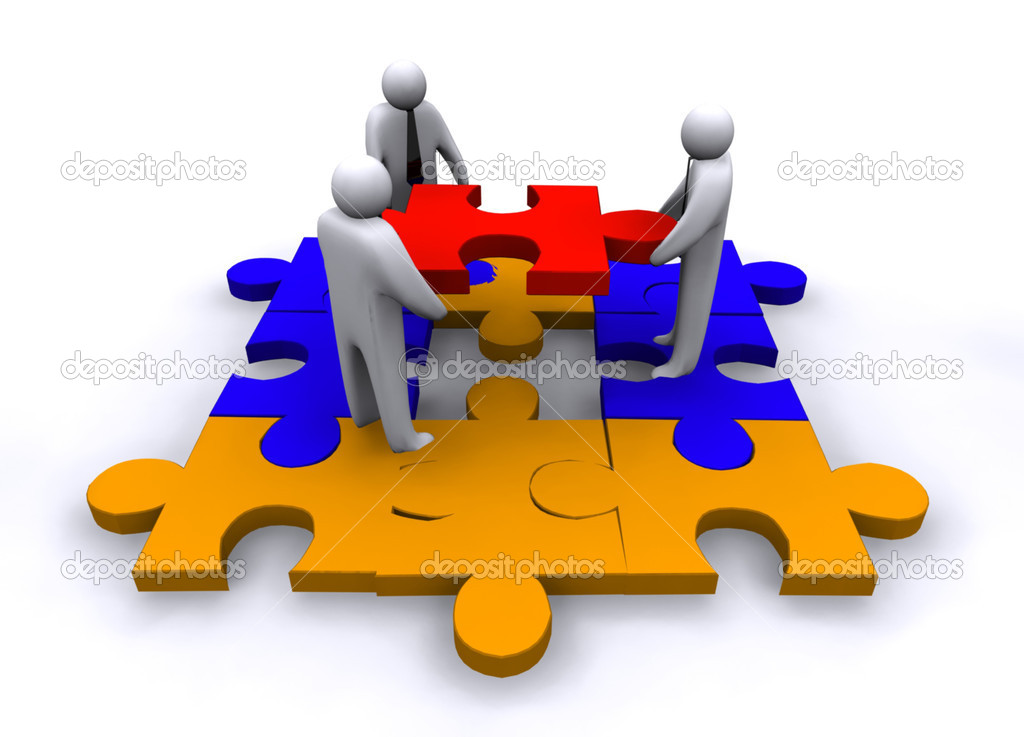 Business puzzle concept — Stock Photo #10298483