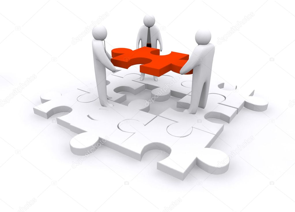 Business puzzle concept — Stock Photo #10298487