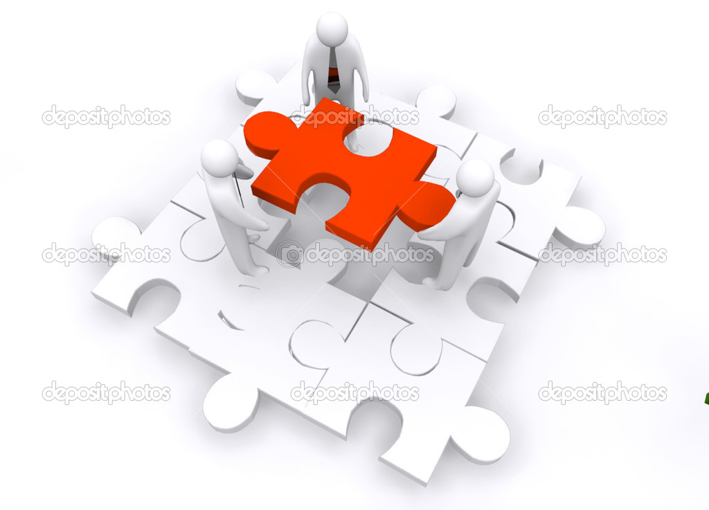 Business puzzle concept — Stock Photo #10298488