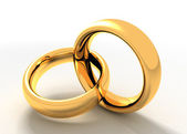 Two golden rings — Stock Photo