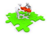 Business puzzle conceptBB — Stock Photo