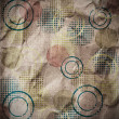 ストック写真: Grungy Background.old paper with circles