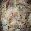 图库照片: Grungy Background.old paper with circles