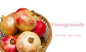 Pomegranate fruit isolated on a white background — Stock Photo