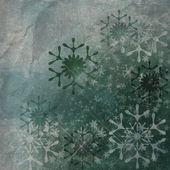 Grunge snowflakes . old paper with snow — Stock Photo