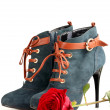 Boot and rose — Photo