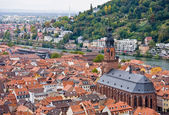 Aerial view to old town of Heidelberg, Germany — Stock Photo