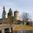 Medieval Olavinlinna castle in Savonlinna, Finland - Stock Photo