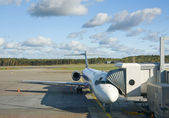 Airplane prepare to boarding — Stock Photo