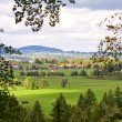 Stock Photo: Field and mountain landscape, Bavaria, Germany