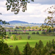 Field and mountain landscape, Bavaria, Germany — Stock Photo