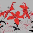 Red Lilies - Stock Vector