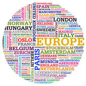 Eu countries and cities — Stock Photo