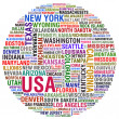 USA STATES AND CITIES - Stock Photo