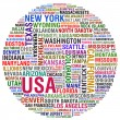 USA STATES AND CITIES - Foto Stock