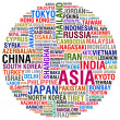 ASIA Countries and Cities - Stock Photo