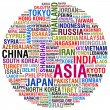 ASIA Countries and Cities — Stock Photo