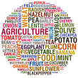 Stock Photo: Agricultural words