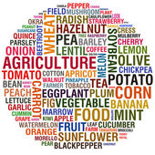 Agricultural words — Stock Photo