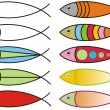 Fish icons — Stock Photo
