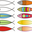 Fish icons - Stock Photo